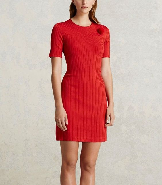 Graduation Outfit: red half sleeve dress #outfit #red #graduationoutfits #fashion