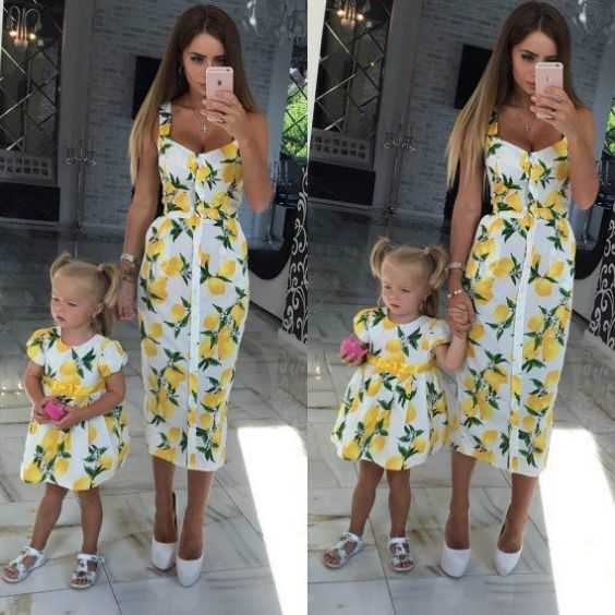 Mommy And Me Outfits: white floral sleeveless shirt dress, white floral short sleeve bubble dress, white heels, white sandals #outfit #floral #babygirl #mommy